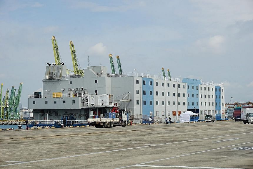 Foreign workers will go through health checks before boarding the floating accommodation facilities, which are being prepared to ensure living conditions aboard are conducive and essential needs are taken care of.