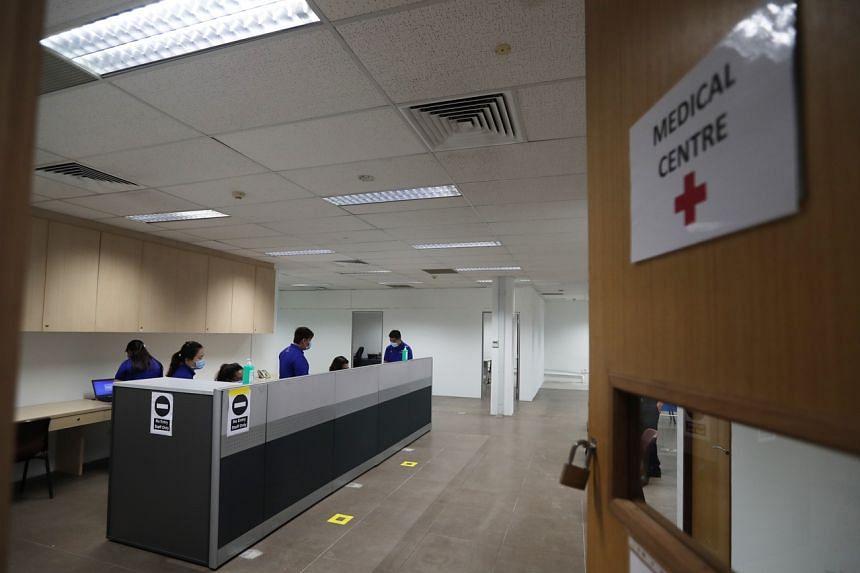 A medical centre housed at Tanjong Pagar Terminal.