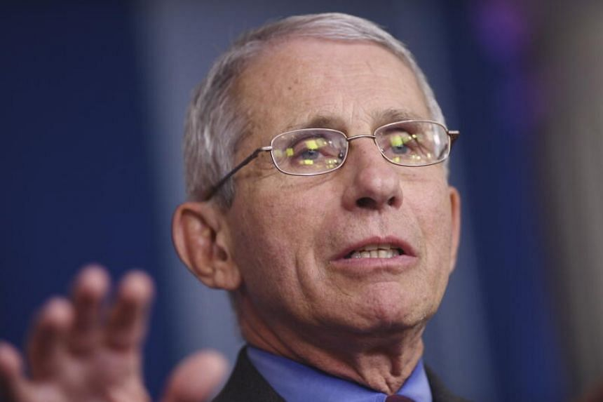 Dr Anthony Fauci speaks at a coronavirus briefing at the White House, on April 10, 2020.