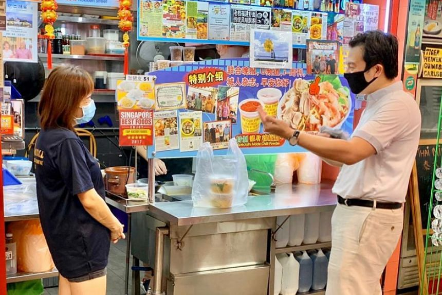The party's post came after Tanjong Pagar GRC MP Chia Shi-Lu drew a barrage of criticism for distributing masks to hawkers at Alexandra Village Food Centre.