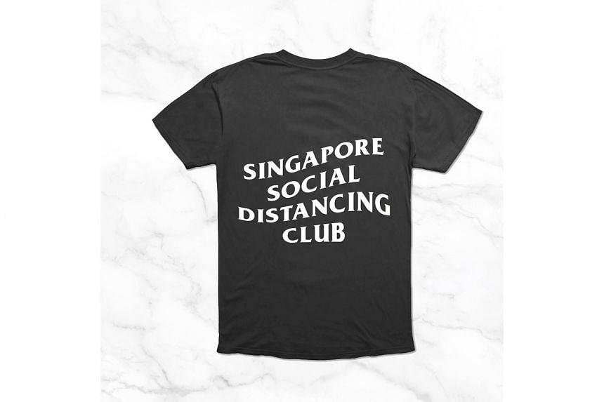 Social distancing t-shirts for a good cause.