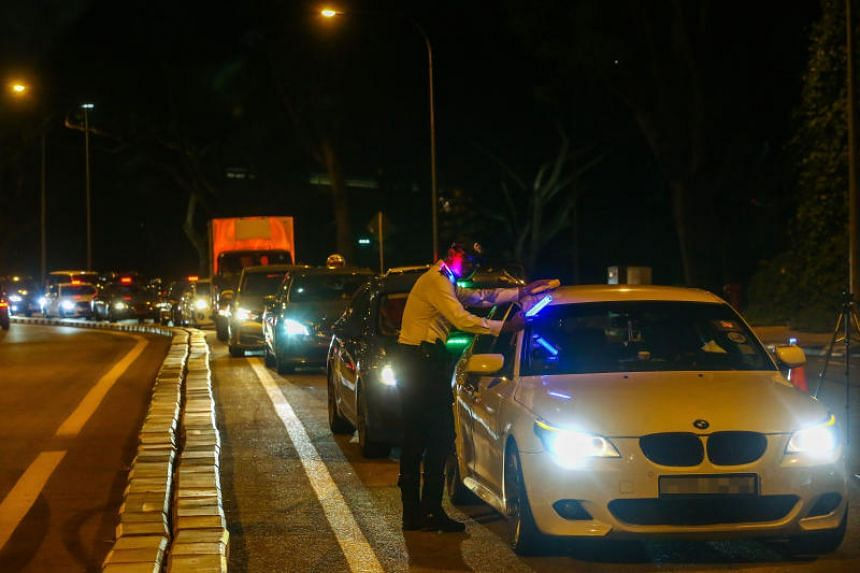 The police said that they conduct road blocks to detect offences such as drink-driving, and for other law enforcement purposes.