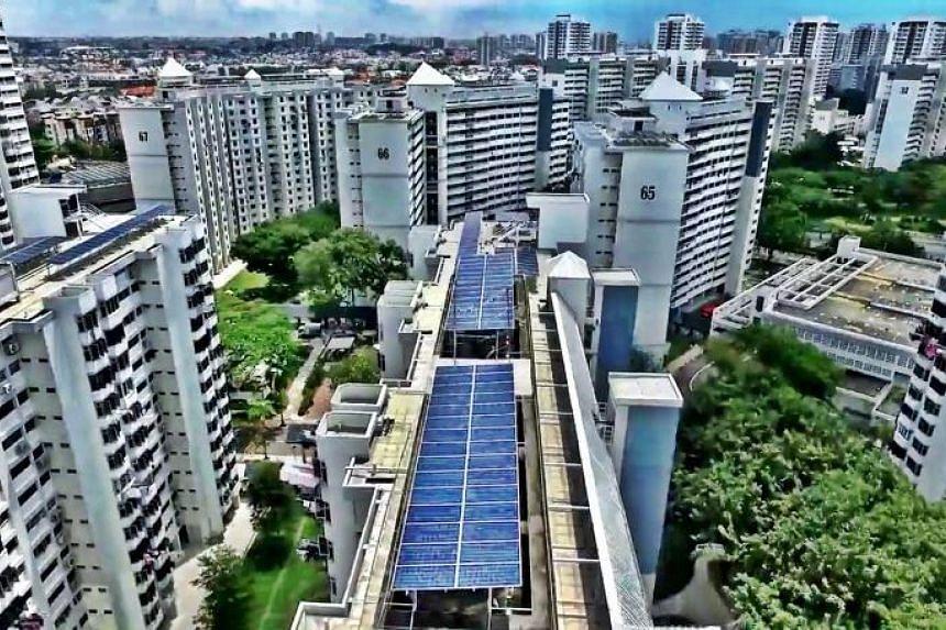 Sunseap Group's solar panels.