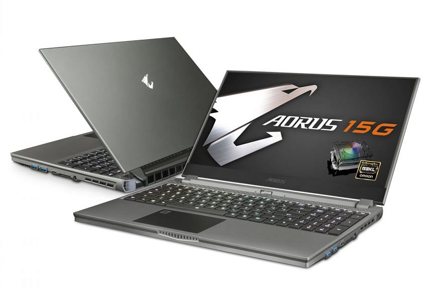 The Gigabyte Aorus 15G is equipped with an eight-core Intel mobile processor and the latest Nvidia GeForce RTX 2070 Super graphics chip. PHOTO: GIGABYTE