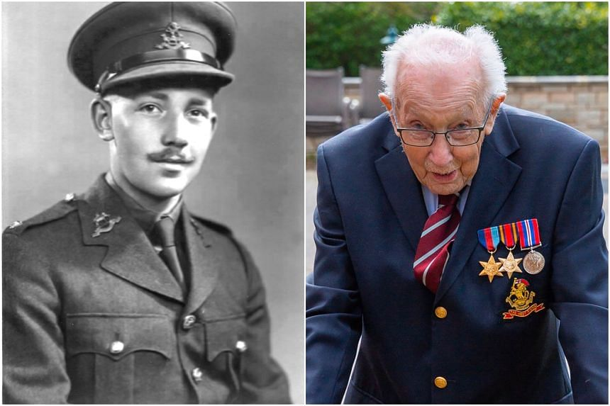 Mr Tom Moore is being sponsored to complete 100 lengths of his garden in time for his 100th birthday at the end of the month.