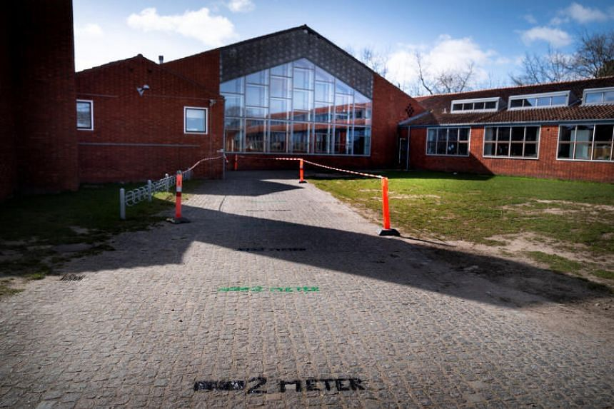 The Stengaard School prepares for reopening after a coronavirus lockdown in Gladsaxe, Denmark, on April 14, 2020.