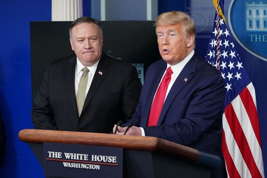 Secretary of State Mike Pompeo (left) said Beijing needs to come clean on what it knows.