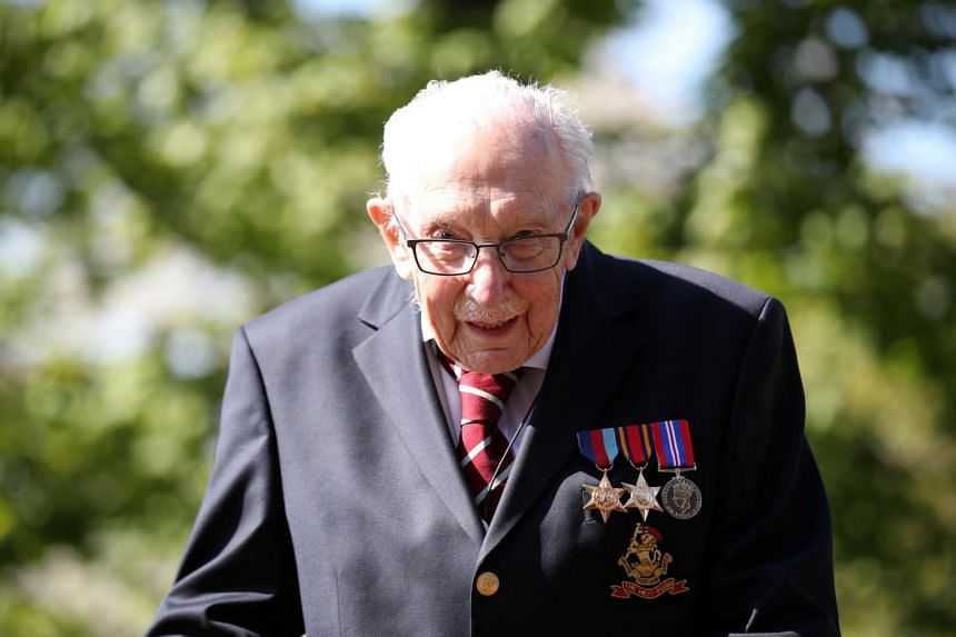 Retired British army captain Tom Moore's fund-raising challenge temporarily crashed the JustGiving site due to an overwhelming rate of donations.