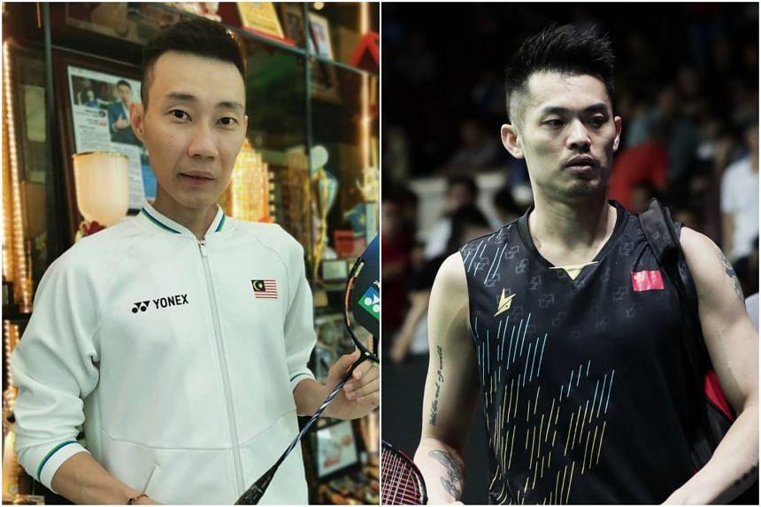 """Malaysia's Lee Chong Wei (left) calls China's Lin Dan """"a legend""""."""