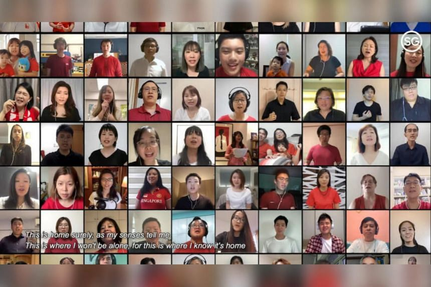 The Singapore Strong Fund partially funded a project that saw a 900-strong virtual choir sing Home.