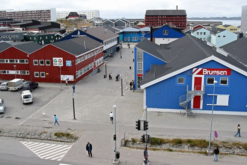 A 2004 photo shows the centre of Nuuk in Greenland.