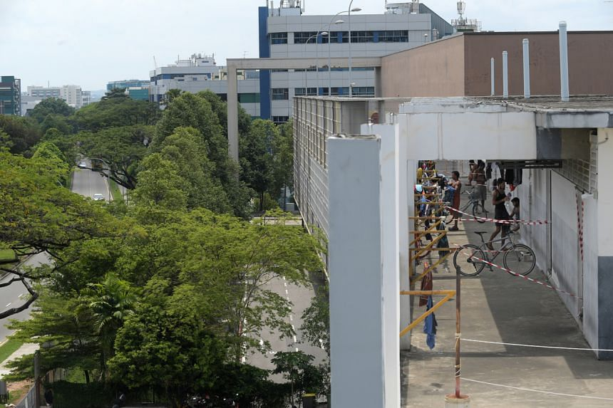 SJ Dormitory in Woodlands is one of the workers' dormitories linked to new clusters on April 16, 2020.