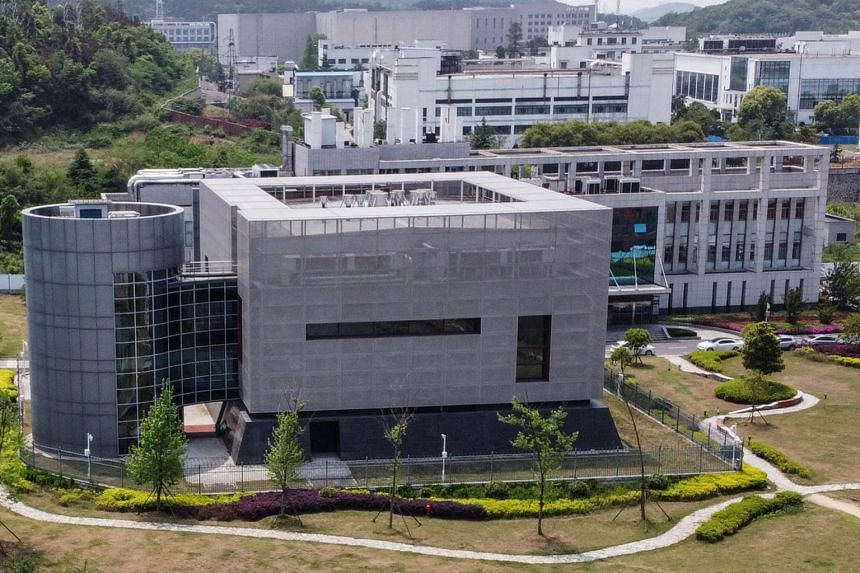 An aerial view of the P4 laboratory at the Wuhan Institute of Virology in Wuhan, on April 17, 2020.