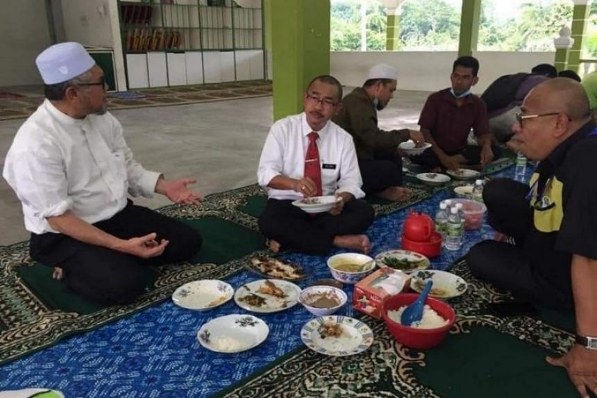 Photographs from Dr Noor Azmi Ghazali's Facebook page showing his visit to an Islamic school in Perak.