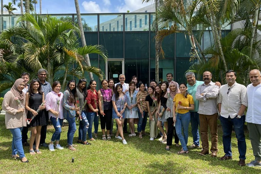 As a people-centric employer, Optimum Solutions often organises fun activities to bring employees together. On Valentine's Day this year, employees were encouraged to give roses to their colleagues as part of the festivities. PHOTO: OPTIMUM SOLUTIO
