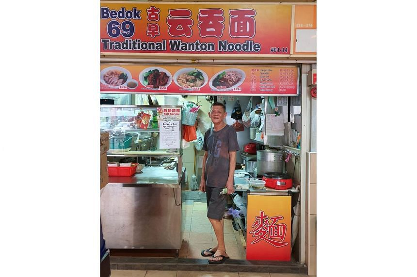 More than 80 hawkers, such as Bedok 69 Traditional Wanton Noodle (above), have signed up with Belanja Eat, a pay-it-forward initiative that lets participants treat someone to a hawker meal.