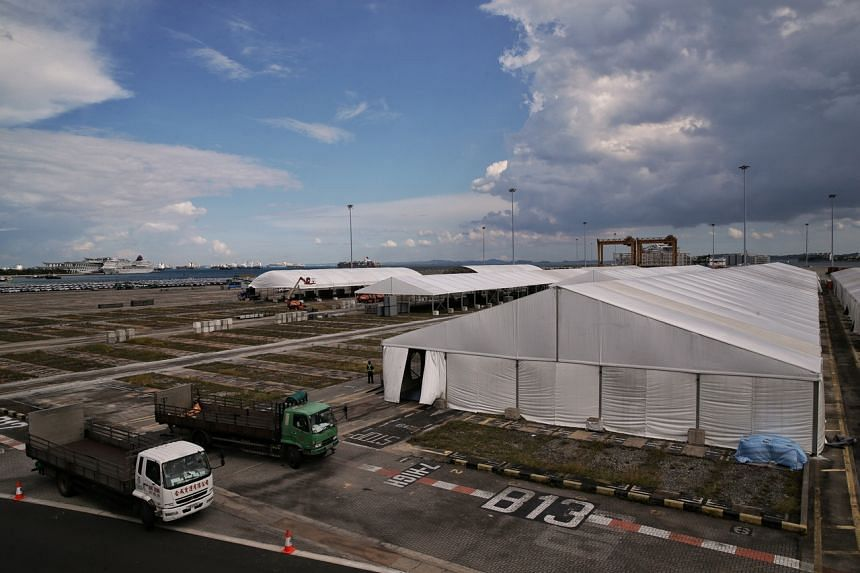 When completed, the mega temporary structure could accommodate up to 15,000 people.