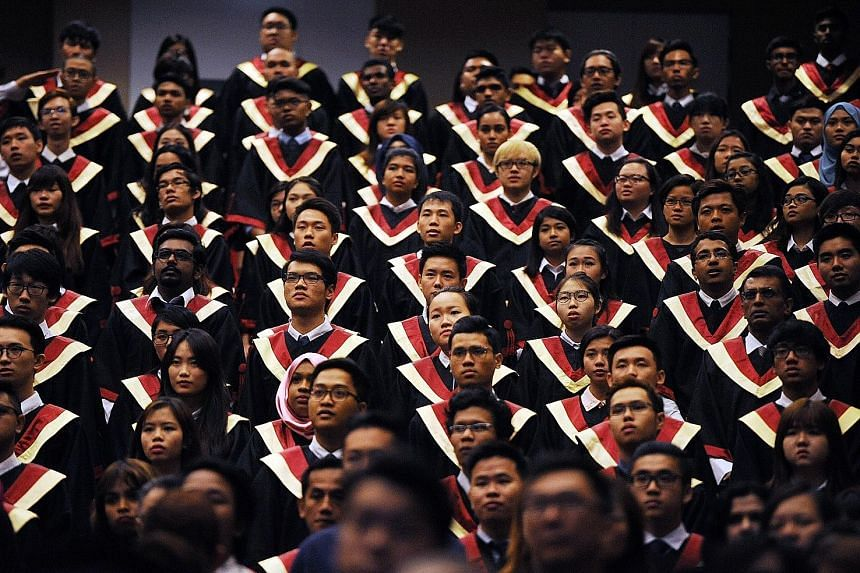 A graduation ceremony at ITE College Central. Fresh ITE, polytechnic and university graduates can apply for SGUnited Traineeships at over 280 companies and organisations. The Government, which has set aside $100 million for the scheme, will fund 80 p