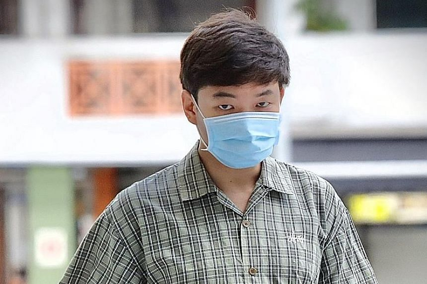 Alan Tham Xiang Sheng did not go home immediately after being served the notice. PHOTO: LIANHE ZAOBAO
