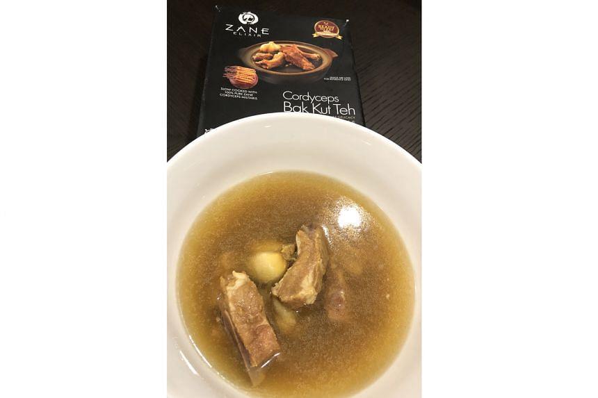 Tasty bak kut teh from a frozen pack.