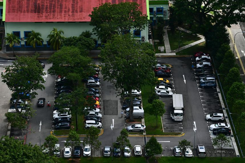 Cars parked at a carpark next to Bishan-Toa Payoh Town Council on Dec 12, 2019.