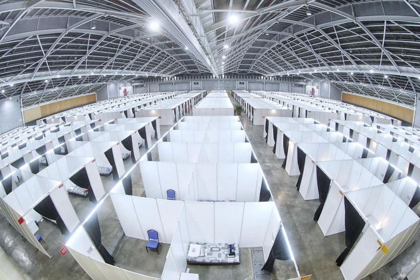 Singapore Expo has two operational halls that can hold 950 people, with another four halls on the way.