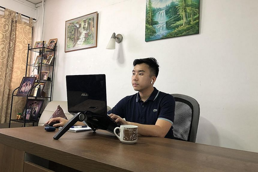 Mr Kwan Fey Mun, who works at Everise, a business process outsourcing company, says he feels fortunate to be working for a company whose business is growing during this period.