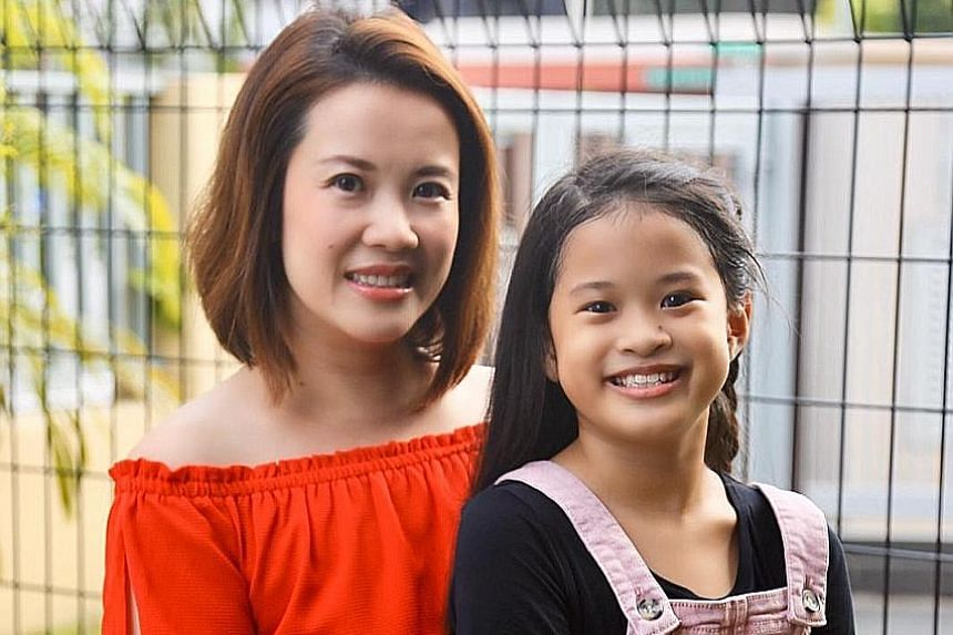 Ms Adele Leong took a six-month break from work in August last year to spend more time with her daughter Carolyn Puah Neo (both above), who is taking the Primary School Leaving Examination this year.