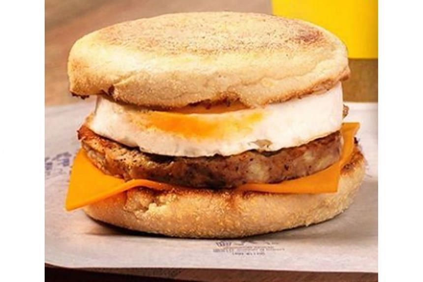 Mcdonald's Sausage Mcmuffin With Egg.