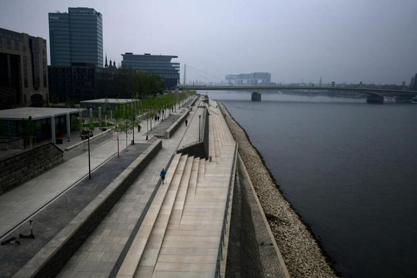 The dry spell has depressed water levels on Germany's Rhine River.