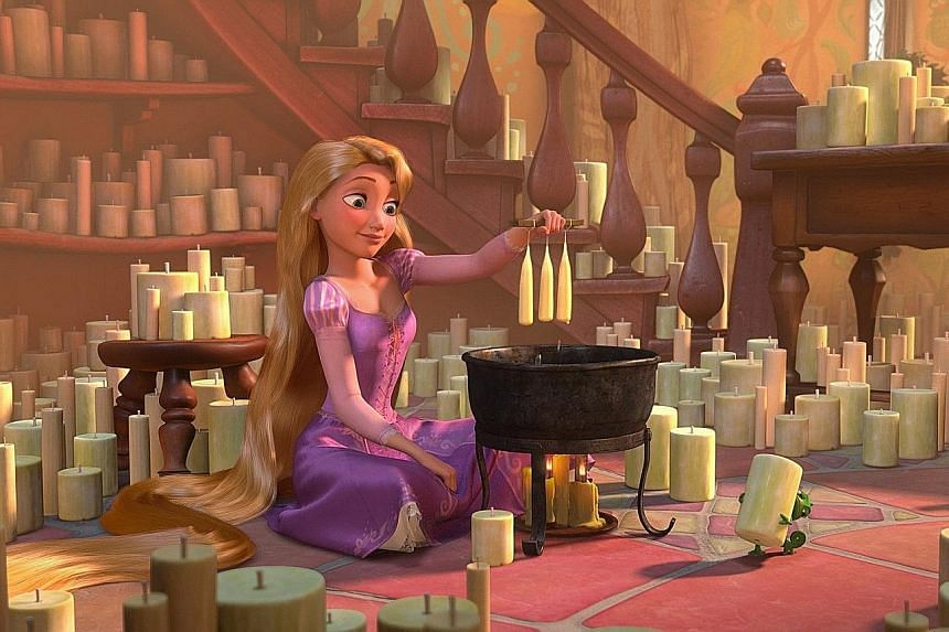 Rapunzel: Keep your mind active and groom yourself.