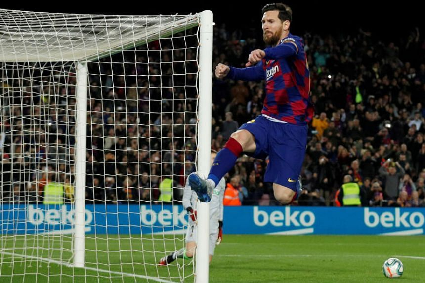 Barcelona's Lionel Messi in action.