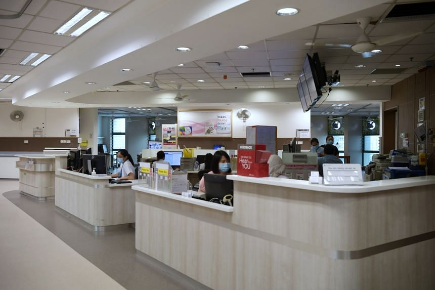 Tan Tock Seng Hospital converted the wards on two floors into areas dedicated to treating Covid-19 patients.