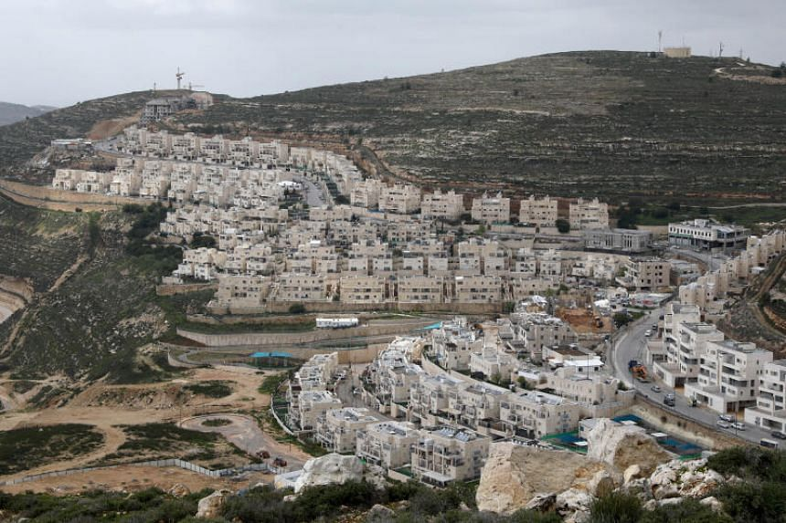 The Israeli settlement of Ramat Givat Zeev in the Israeli-occupied West Bank.