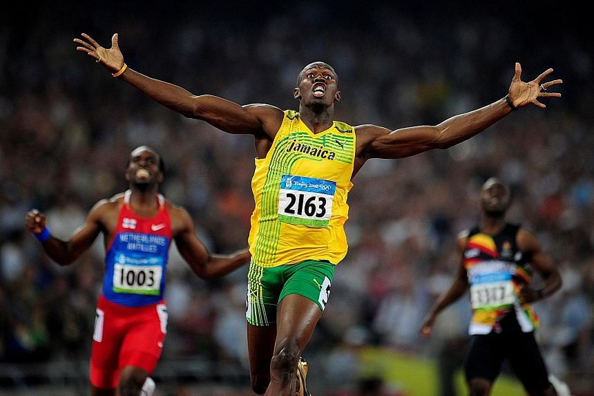 Jamaican sprint king Usain Bolt wins the 200m at the Beijing Olympics in a world-record 19.30sec. A year later he lowered his mark to 19.19sec, which still stands.
