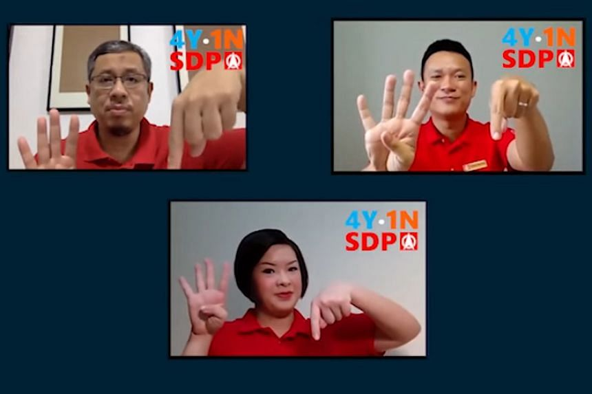 The Singapore Democratic Party's campaign for the next general election is titled Four Yes, One No, or 4Y1N.