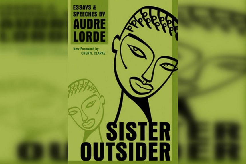 Audre Lorde's book Sister Outsider.