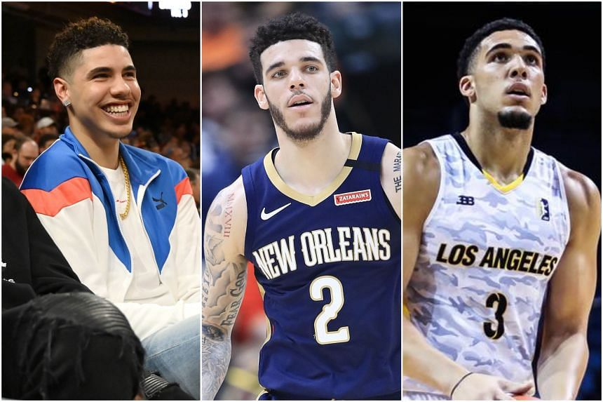 Nba Brothers Lonzo Liangelo And Lamelo Ball Set To Sign With Roc Nation Sports Says Report Basketball News Top Stories The Straits Times