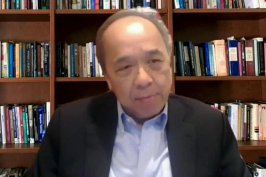 Professor Khong Yuen Foong during an online panel discussion on April 28, 2020.