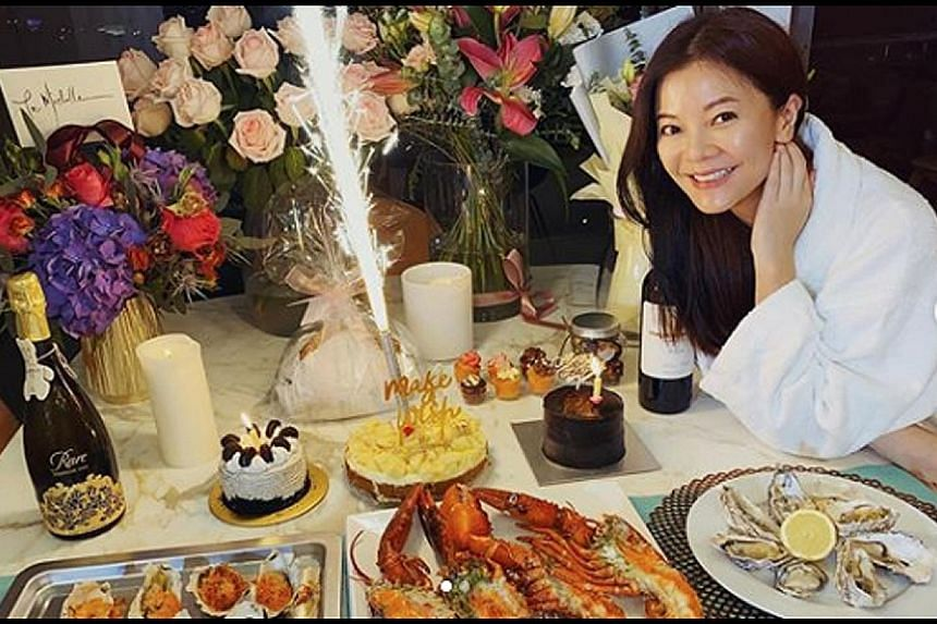 HAPPY BIRTHDAY, MICHELLE CHONG: She had no dining companions, but she sure had a feast. Local actress and comedienne Michelle Chong celebrated her 43rd birthday last Thursday alone at home, but she is not complaining. In an Instagram post on Tuesday,