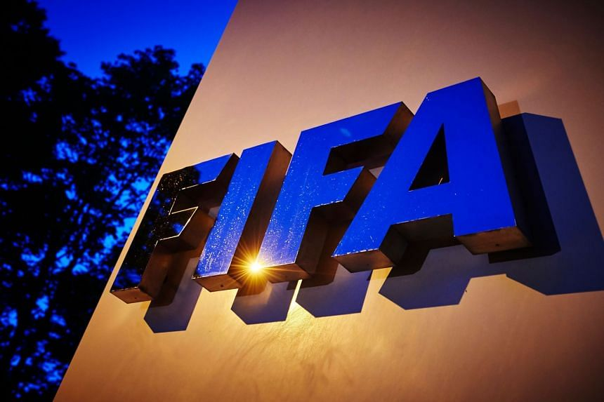 The Fifa logo is pictured at Fifa's headquarters in Zurich, Switzerland.