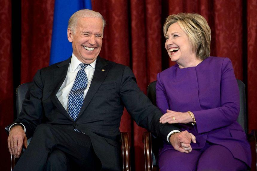 A 2016 photo shows Biden and Clinton at an event in Washington DC.
