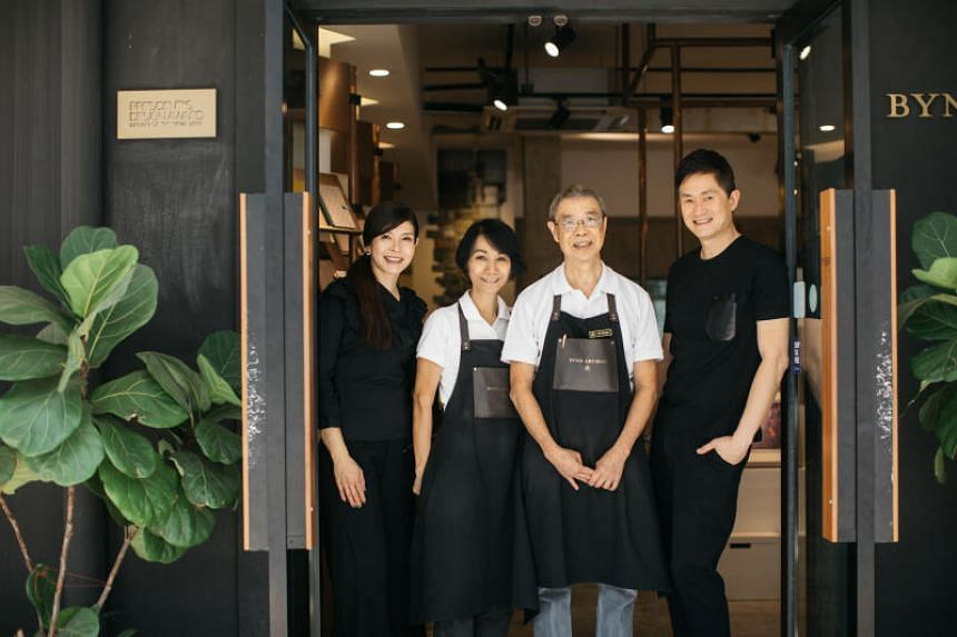 (From left) Bynd Artisan founder Winnie Chan, CTO Grace Chai, master craftsman Mr BC Chong and co-founder James Quan.
