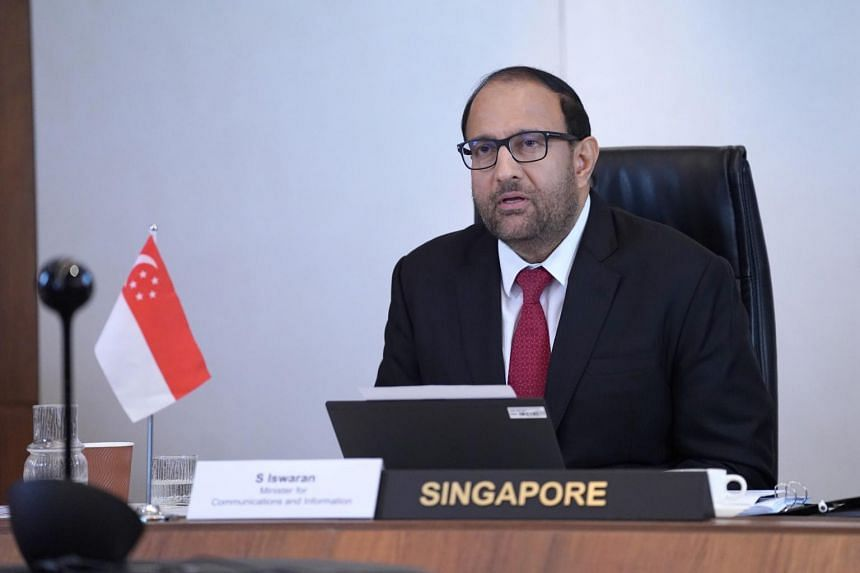 Minister for Communications and Information S Iswaran represented Singapore at the Extraordinary G-20 Digital Economy Ministers Meeting held via video-conference on April 30, 2020.