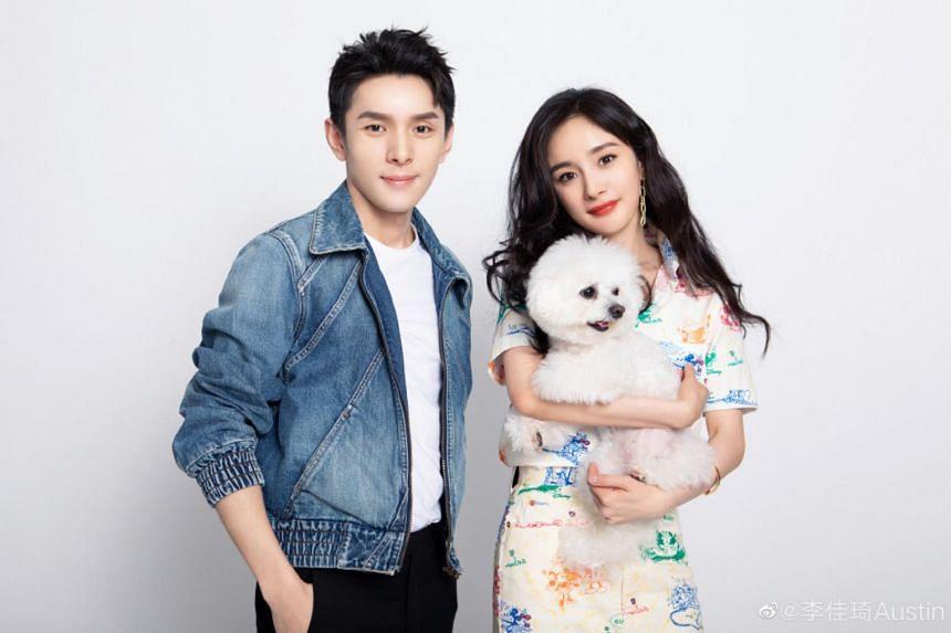 Chinese Internet celebrity Li Jiaqi, also known as Austin Li, and Chinese actress Yang Mi.