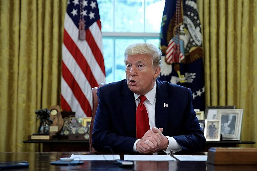 US President Donald Trump says he is looking at different options in terms of consequences for Beijing over the coronavirus pandemic. PHOTO: REUTERS