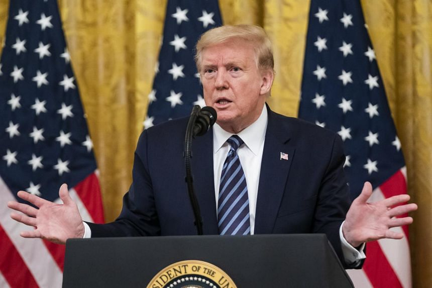 US President Donald Trump takes questions in in Washington on April 30, 2020.
