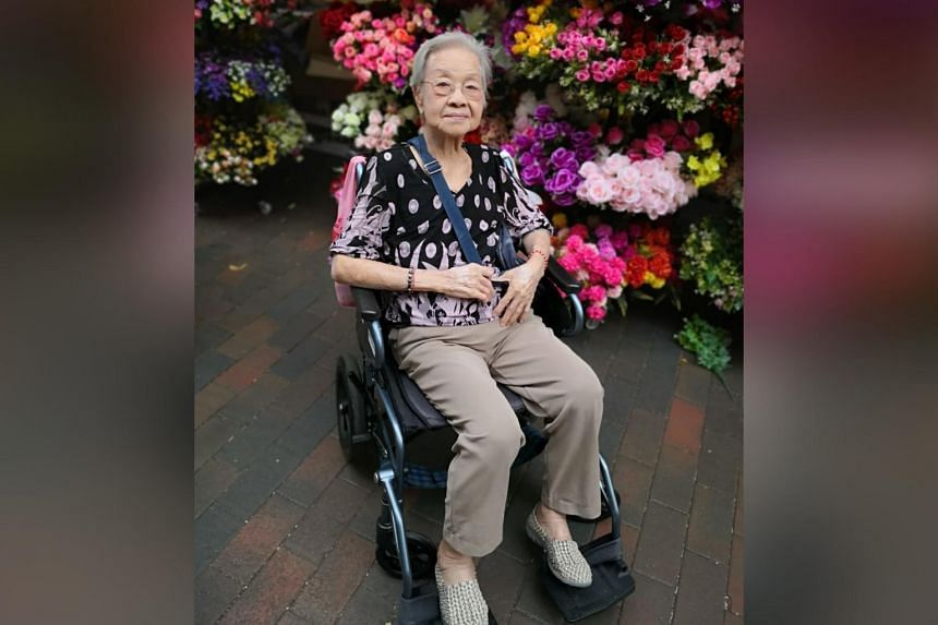 A photo taken earlier this year shows Madam Yap Lay Hong, Singapore's oldest survivor of Covid-19.