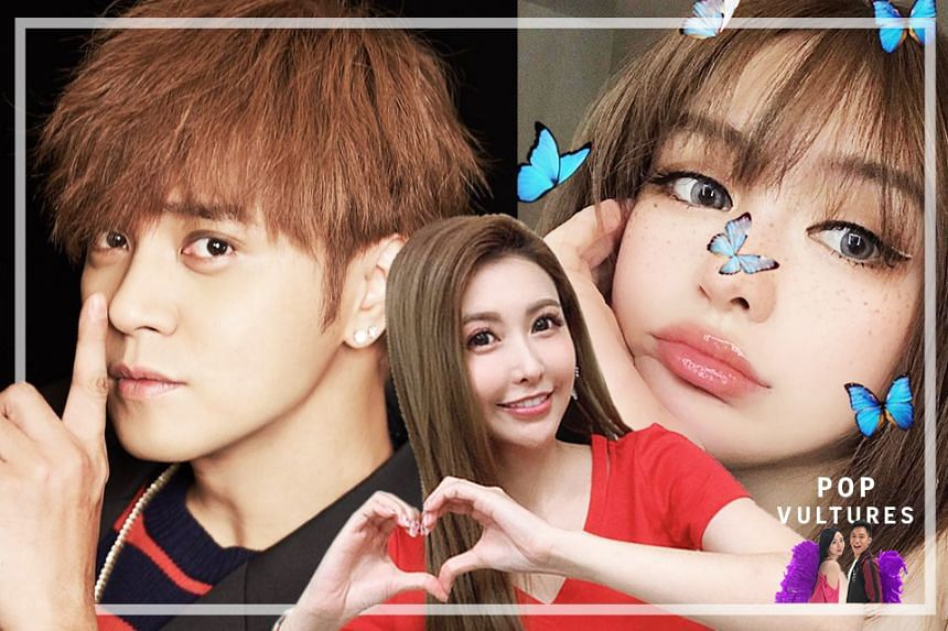 (From left) In this episode, the #PopVultures deep dive into the biggest celebrity scandal in Mandopop - Show Lo's ugly breakup with his influencer girlfriend Grace Chow, and how actress Linda Chien Kai-le was involved in the mix.