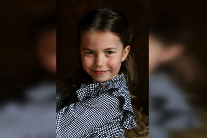 Princess Charlotte in a photo taken in April 2020 by her mother, the Duchess of Cambridge.